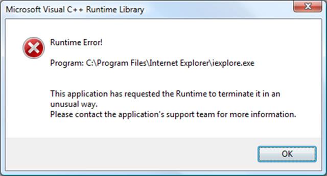 run time error